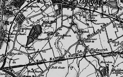 Old map of Monkton in 1898