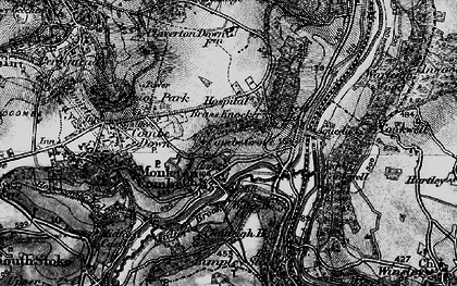 Old map of Monkton Combe in 1898