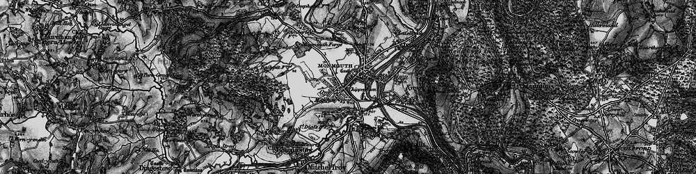 Old map of Monmouth in 1896