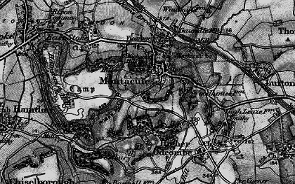 Old map of Montacute in 1898