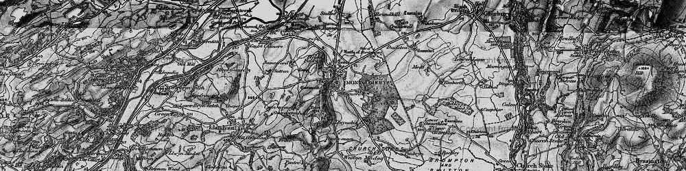 Old map of Montgomery in 1899