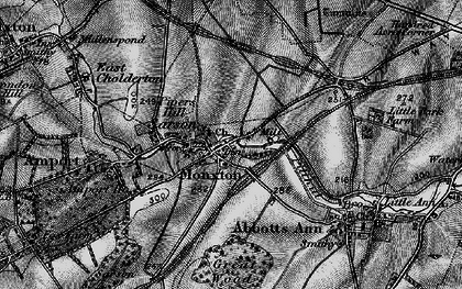 Old map of Monxton in 1895