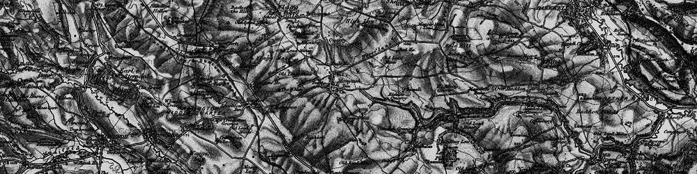 Old map of Monyash in 1896