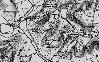 Old map of Wittersham Manor in 1895
