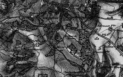 Old map of Moor Common in 1895