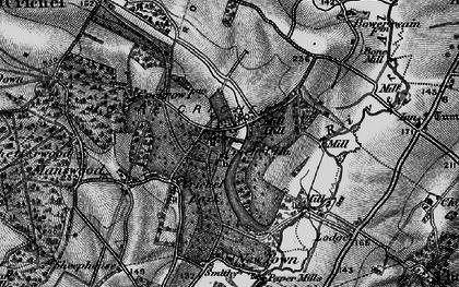 Old map of Crichel Ho in 1895