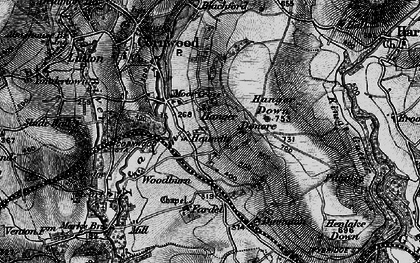 Old map of Whingreen in 1898