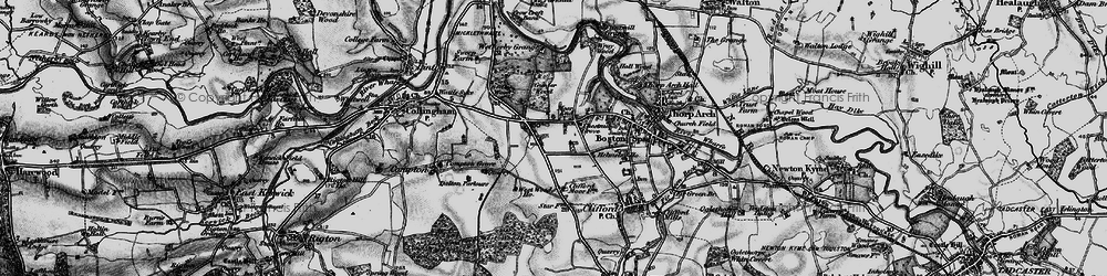Old map of Wetherby Grange in 1898