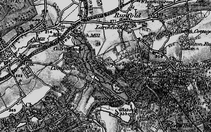 Old map of Waverley Abbey in 1895