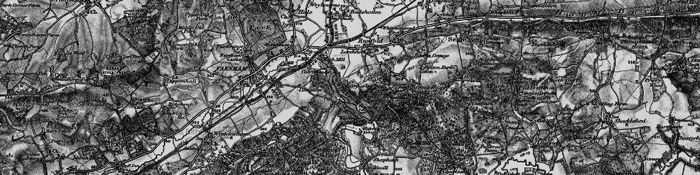 Old map of Waverley Abbey in 1895