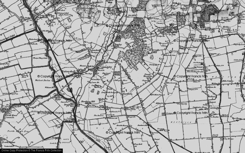 Old Map of Moor Side, 1899 in 1899