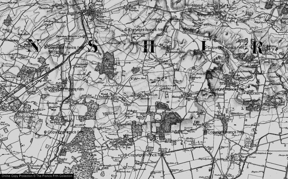 Old Map of Moorby, 1899 in 1899