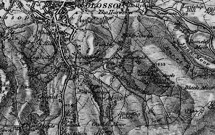 Old map of Within Clough in 1896