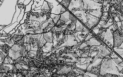 Old map of Winslowe Ho in 1895