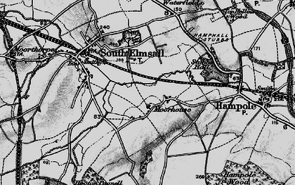 Old map of Moorhouse in 1896