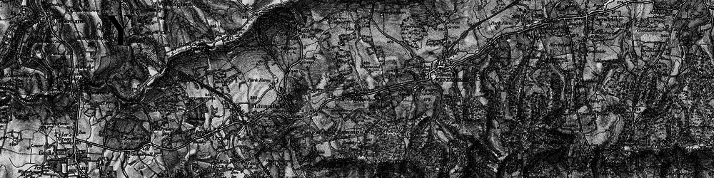 Old map of Titsey Wood in 1895