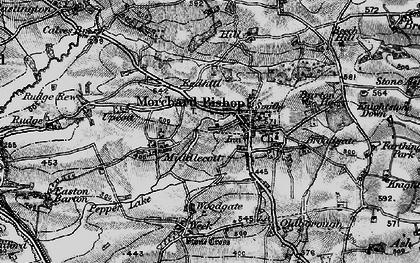 Old map of Bishopsleigh in 1898