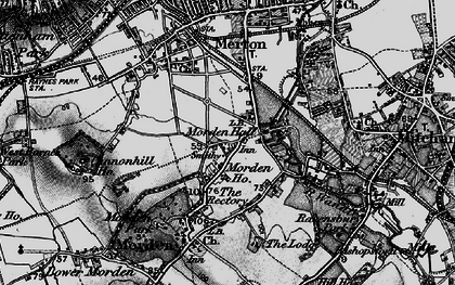 Old map of Morden in 1896