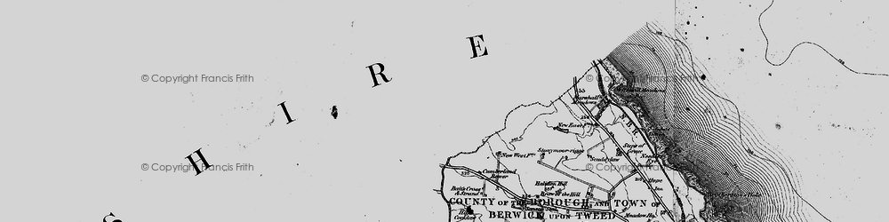Old map of Witches' Knowe in 1897