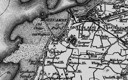 Old map of Morecambe in 1898