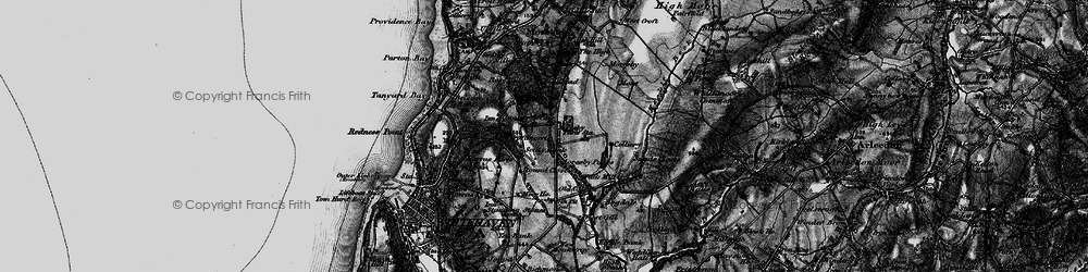 Old map of Abbey Flatts in 1897