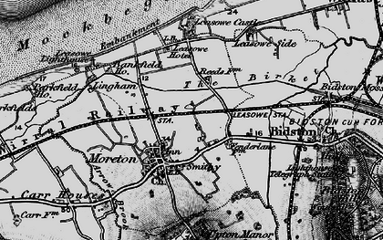 Old map of Moreton in 1896