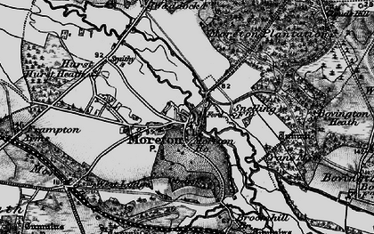 Old map of Moreton in 1897