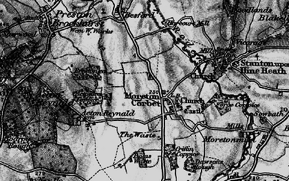 Old map of Acton Lea in 1899