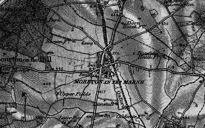 Old map of Moreton-in-Marsh in 1896