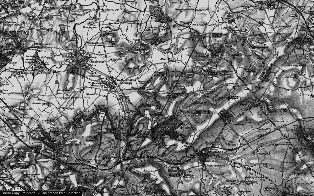 Old Map of Moreton Paddox, 1898 in 1898