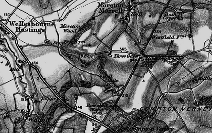 Old map of Moreton Paddox in 1898