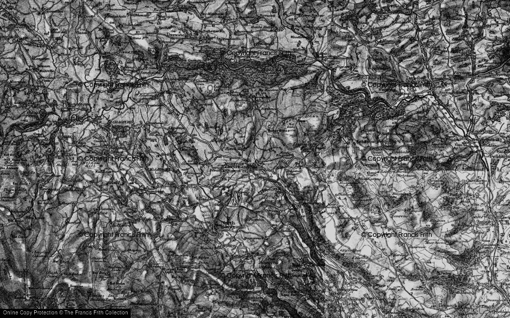 Old Map of Moretonhampstead, 1898 in 1898