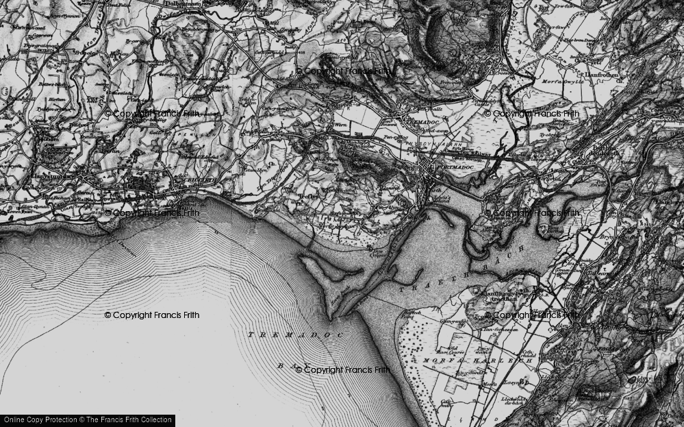 Old Map of Morfa Bychan, 1899 in 1899