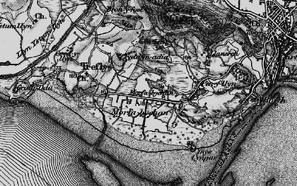 Old map of Morfa Bychan in 1899