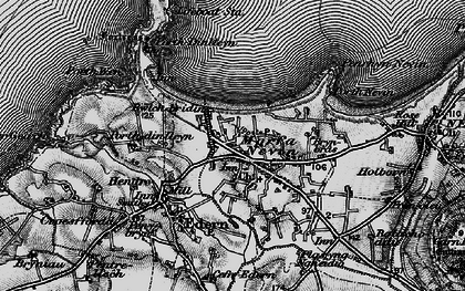 Old map of Porth Dinllaen in 1898