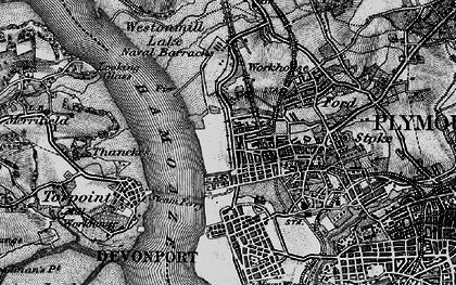 Old map of Morice Town in 1896