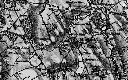 Old map of Akeygate in 1897