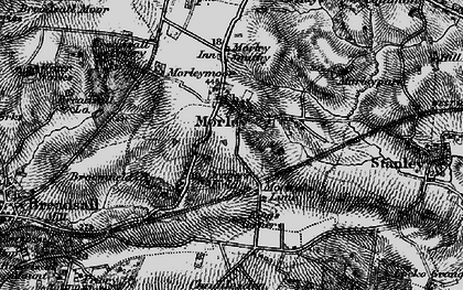 Old map of Morley in 1895