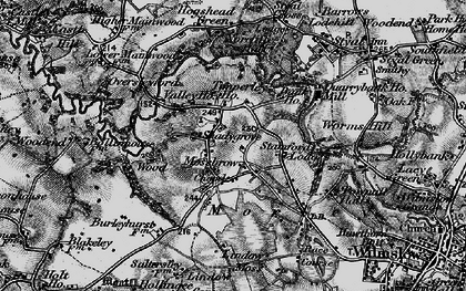 Old map of Lindow Moss in 1896