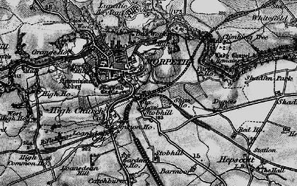 Old map of Morpeth in 1897