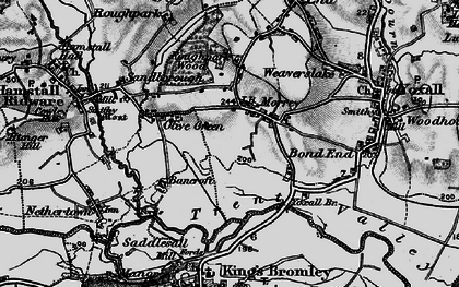 Old map of Yoxall Br in 1898