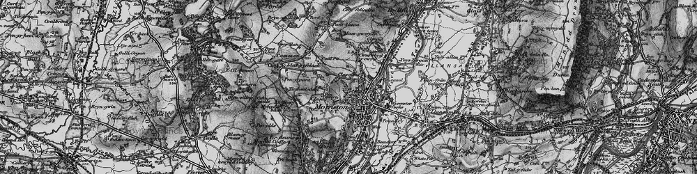 Old map of Morriston in 1897
