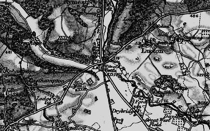 Old map of Mortimer's Cross in 1899