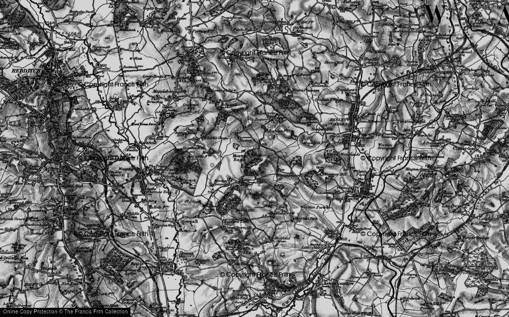 Old Map of Historic Map covering Bannam's Wood in 1898