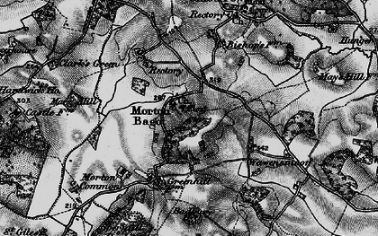 Old map of Bannam's Wood in 1898