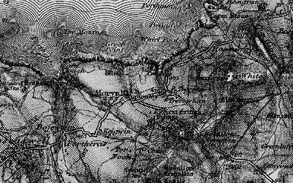 Old map of Morvah in 1896
