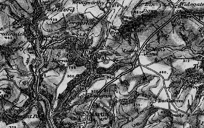 Old map of Morval in 1896