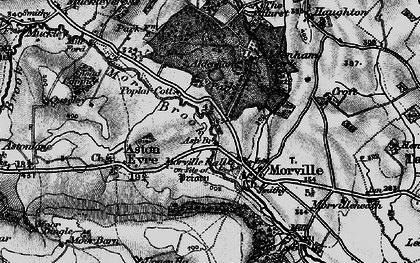 Old map of Ash Bridge in 1899