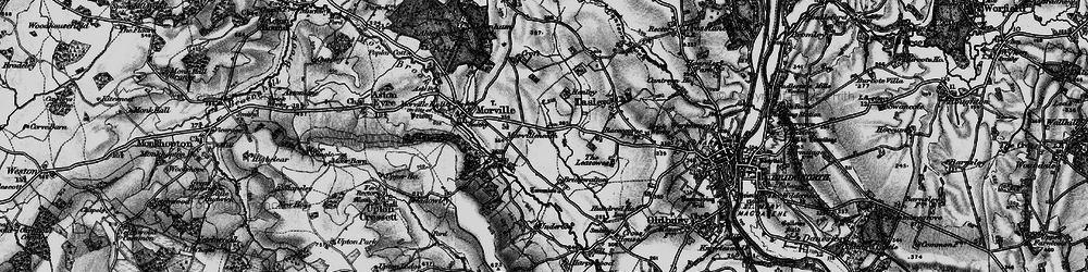 Old map of Tiddle Brook in 1899