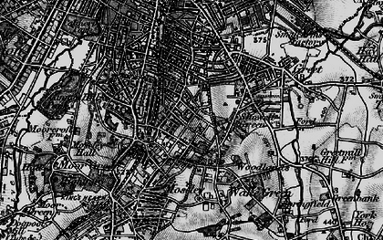 Old map of Moseley in 1899